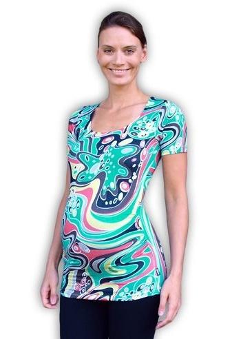Tehotenské tričko krátky rukáv JOHANKA vzor 06