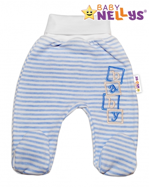Polodupačky Baby Nellys ® Baby Bear - sv. modrý prúžok-80 (9-12m)