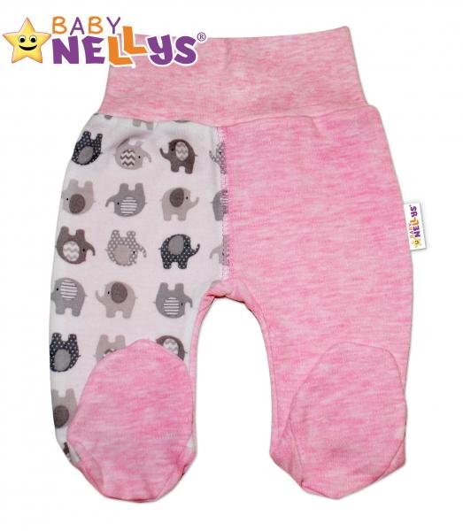 Polodupačky sloník Baby Nellys ® - ružový melírek