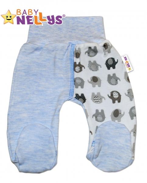 Polodupačky sloník Baby Nellys ® - modrý melírek