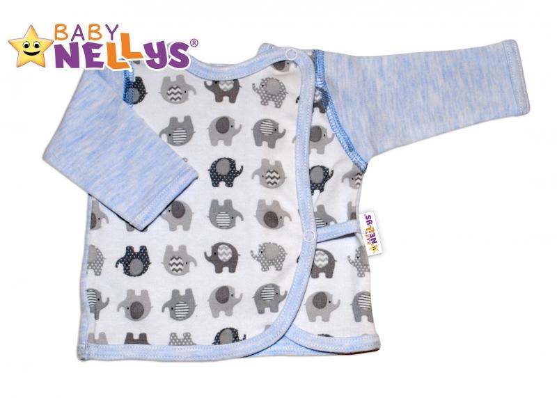 Novorodenecká košieľka sloník Baby Nellys ® - modrý melírek