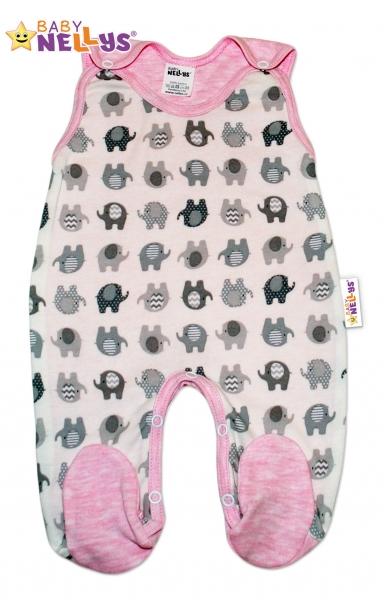 Dupačky sloník Baby Nellys ®- ružový melírek