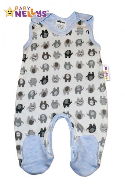 Dupačky sloník Baby Nellys ®- modrý melírek