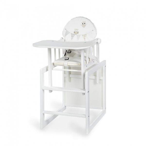 Jedálenský stolička Anežka III sovička biela