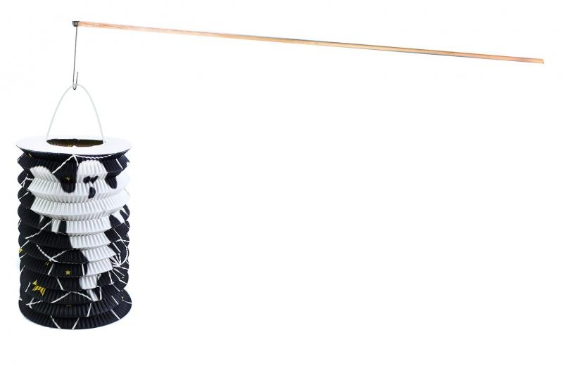 Rappa Lampión HALLOWEEN s drevenou paličkou, 15 cm
