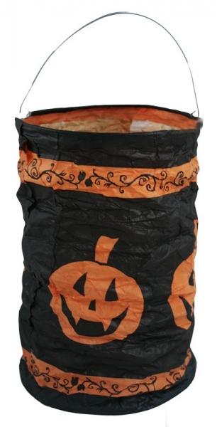Rappa Lampión Halloween - tekvice, čajová sviečka, 15 cm