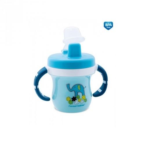 Hrnček s krytom na náustok Canpol Babies - modrý