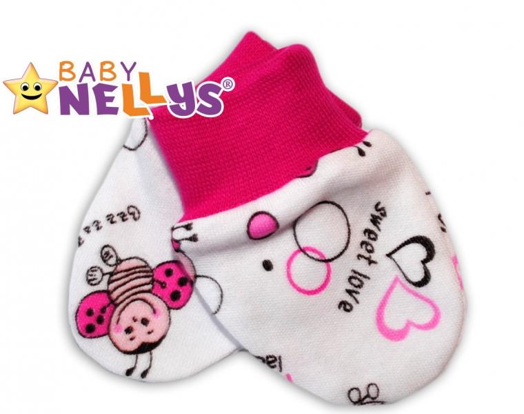 Dojčenské rukavičky Baby Nellys ® - Lienka