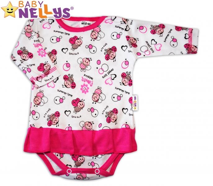 Body dl. rukáv Baby Nellys ® s volánikom - LIENKA