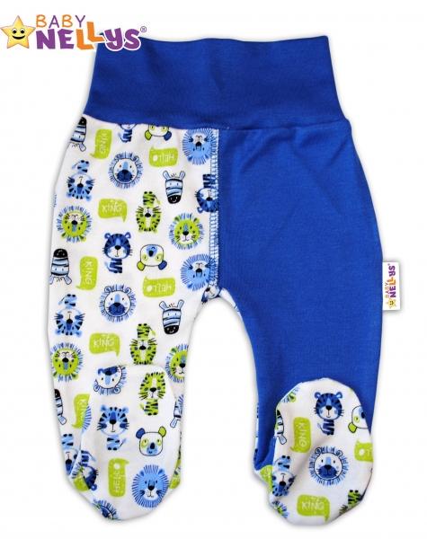 Polodupačky Baby Nellys ® - Hello LION - modrý lem