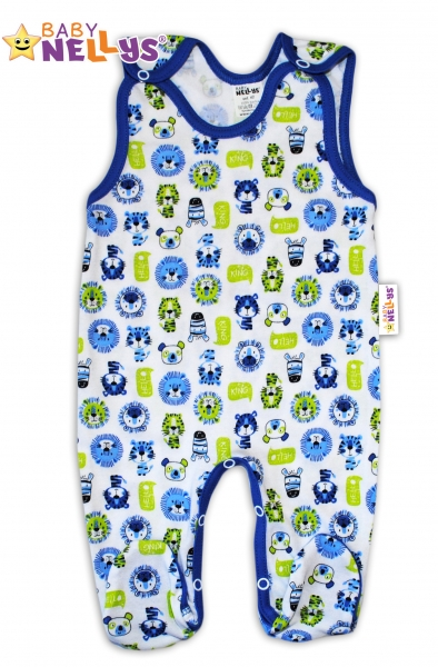 Dupačky Hello LION Baby Nellys ®- modrý lem