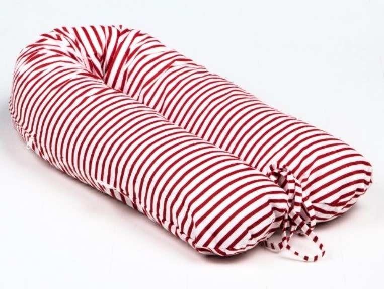 Dojčiace vankúš - relaxačné poduška Nellyska Multi - Červené pruhy