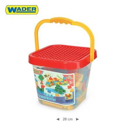 Kýblik s kockami Mini Blocks Wader - 134 dielikov - červený