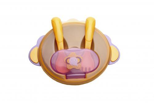 Miska s lyžičkou a vidličkou Akuku