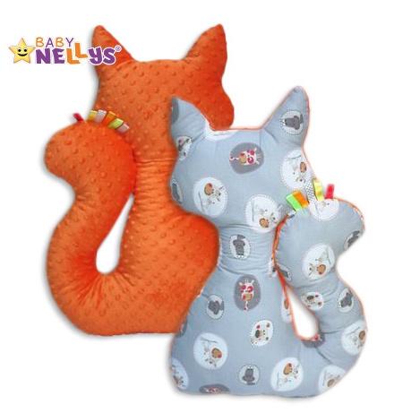 Edukačná hračka MAČKA s Minky Baby Nellys ® - zvieratká v šedej