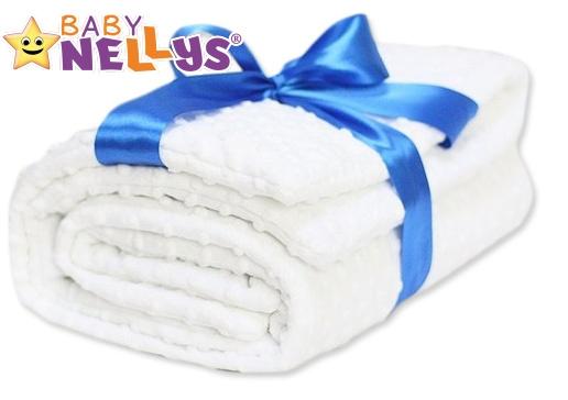 Nádherná obojstranný dečka Minka Baby Nellys ® - biela / biela