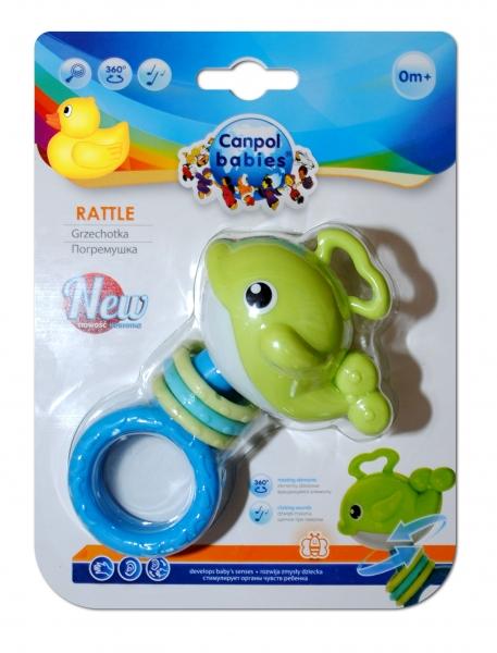Hrkálka, hryzátko Canpol Babies - Veľryba zelená