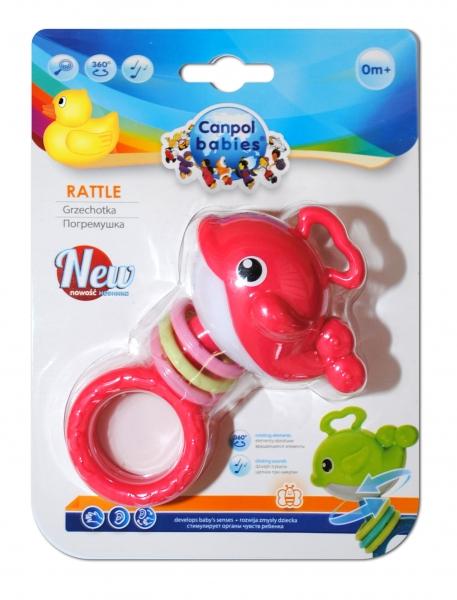 Hrkálka, hryzátko Canpol Babies - Veľryba ružová