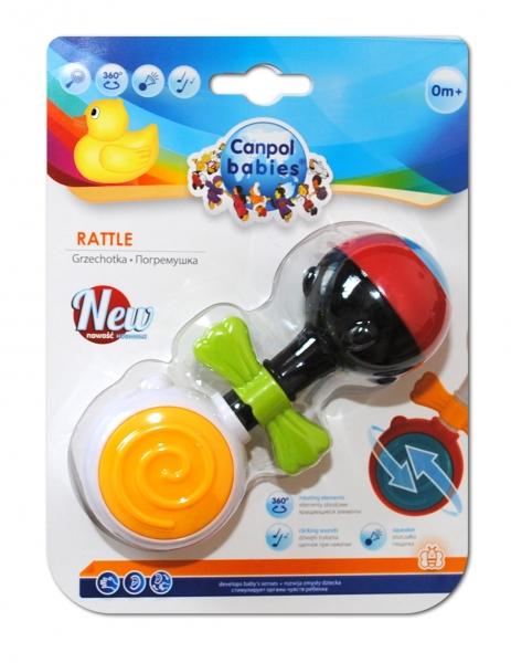 Hrkálka, hryzátko Canpol Babies - Farebné lízatko