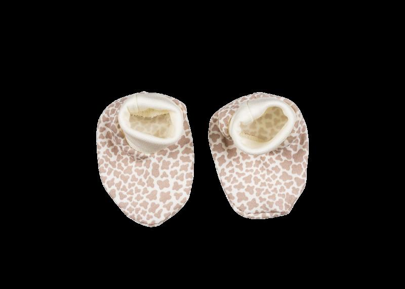 Topánočky / ponožtičky BAVLNA Mamatti - žirafka