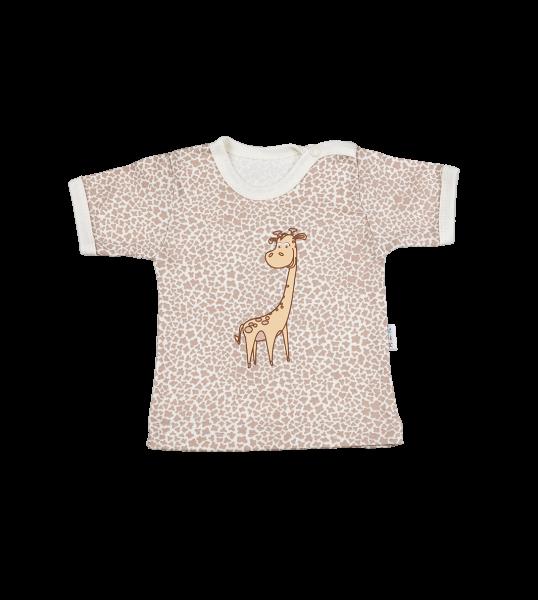 Tričko Kr. rukáv - žirafka, 74 (6-9m)