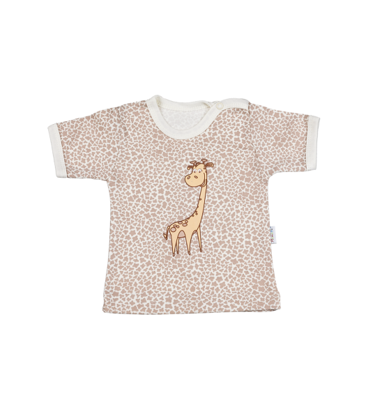 Tričko Kr. rukáv - žirafka, 92 (18-24m)