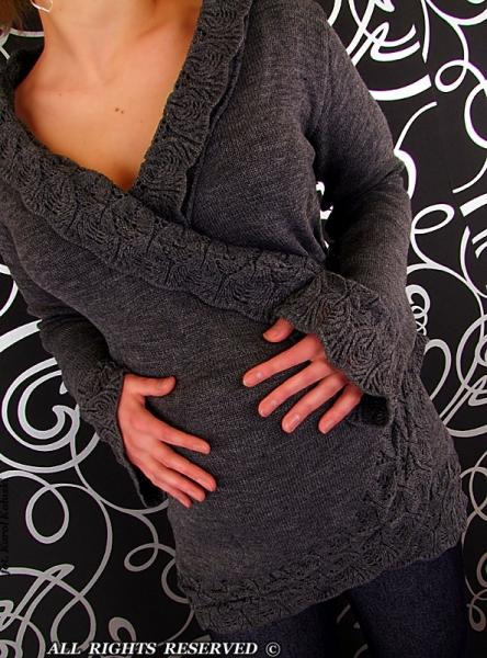 Tehotenský svetrík - Mamička I. - grafit