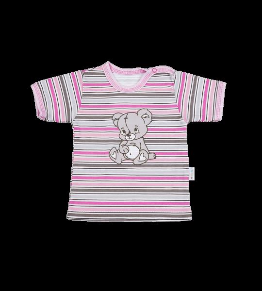Blúzka / tričko kr. rukáv - medvídek, 92 (18-24m)