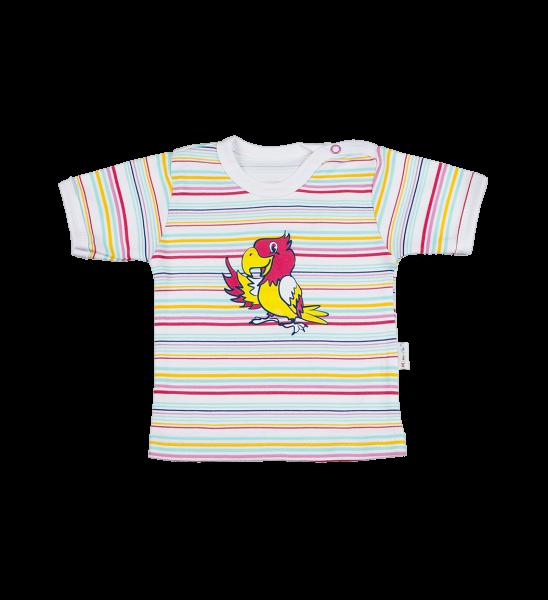 Blúzka / tričko kr. rukáv - papagáj, 74 (6-9m)