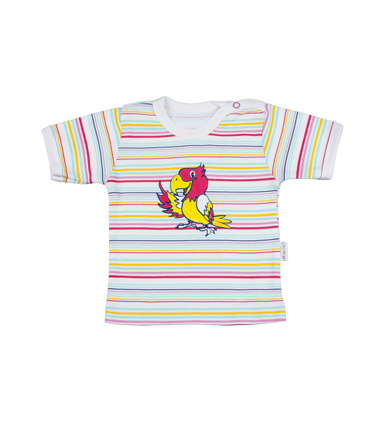 Blúzka / tričko kr. rukáv - papagáj, 86 (12-18m)