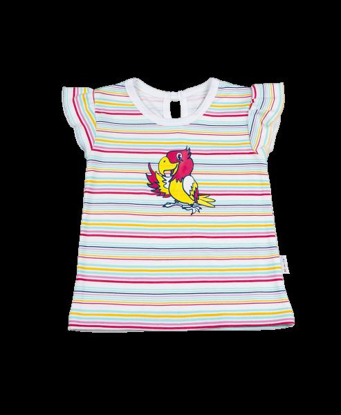 Blúzka / tričko kr. rukáv - papagáj, 98 (24-36m)
