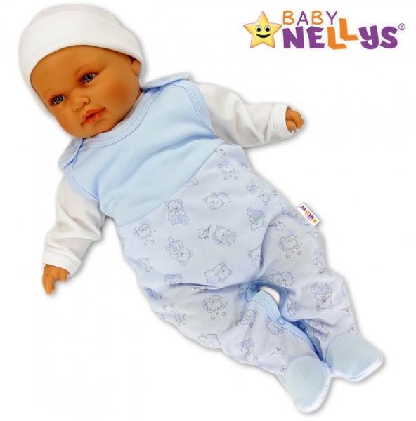 Dupačky Baby Nellys ®- Macko Baby modrý