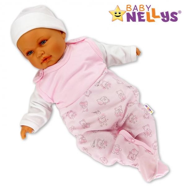 Dupačky Baby Nellys ®- Macko Baby ružový