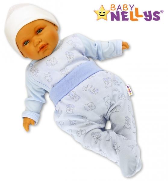 Polodupačky Baby Nellys ® - Macko Baby modrý