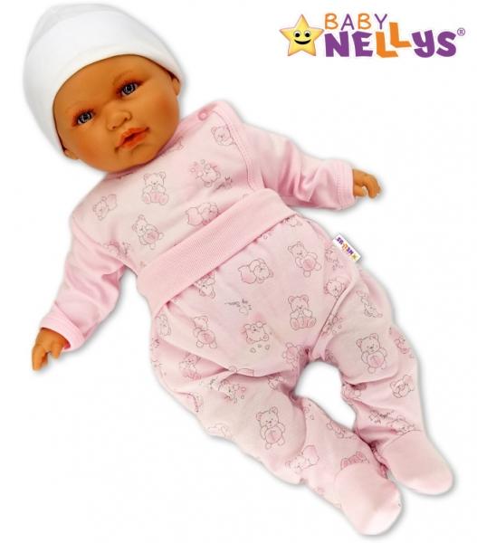 Polodupačky Baby Nellys ® - Macko Baby růžový