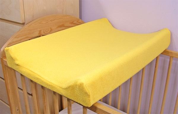 Jersey poťah na prebaľovaciu podložku žltý
