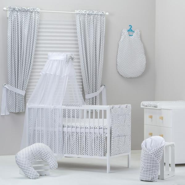 Bavlnené obliečky Sivé bodky, vzor: 410-135x100