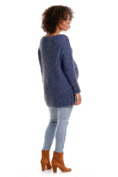 Pulóver, kimono ELLA - melírovana jeans