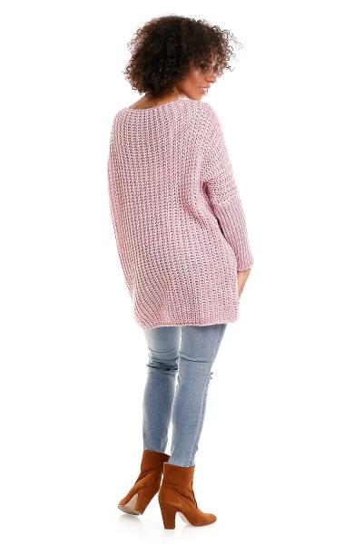 Tehotenský pulóver Ella - ružový