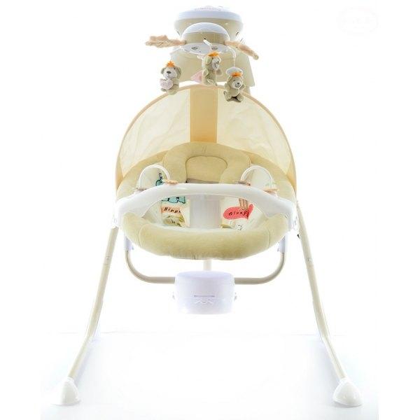 Euro Baby Detská elektrická hojdačka a ležadlo - smotanove  D19