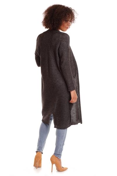 Tehotenský sveter s vreckami Mery - grafit