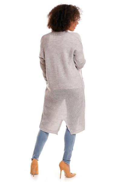 Tehotenský sveter s vreckami Mery - sivý