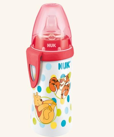 Fľaštička NUK Active Cup 300 ml - Medvedík Pú.