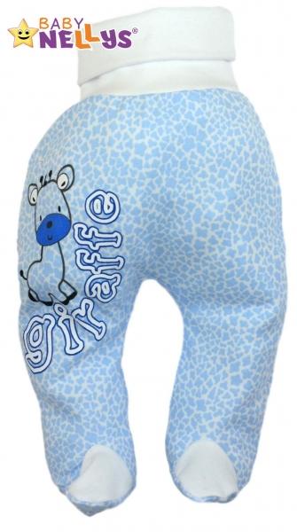 Polodupačky Baby Nellys ® Giraffe - modré, 86 (12-18m)