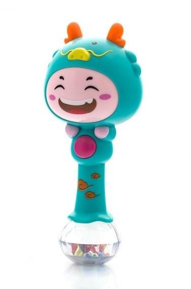 Euro Baby Edukačná hračka - hrkálka s melódiou - ZODIAC - tyrkysový