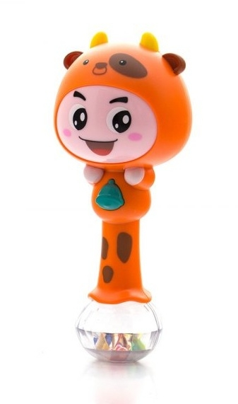 Edukačná hračka - hrkálka s melódiou - ZODIAC - oranžový