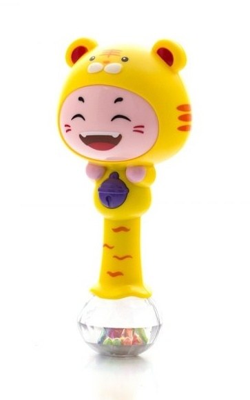 Euro Baby Edukačná hračka - hrkálka s melódiou - ZODIAC - žlutý