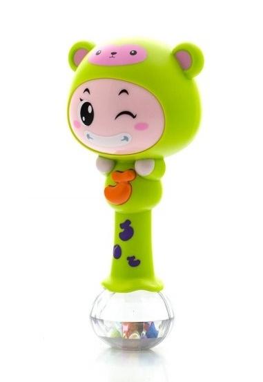 Euro Baby Edukačná hračka - hrkálka s melódiou - ZODIAC - zelený