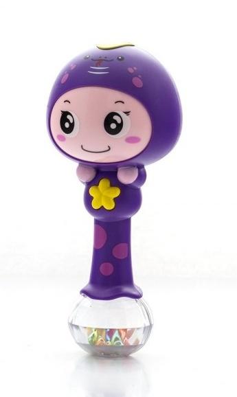 Euro Baby Edukačná hračka - hrkálka s melódiou - ZODIAC - fialový