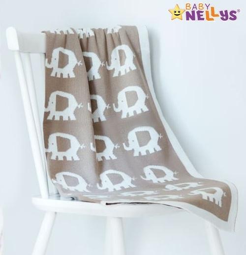 Deka z úpletu Baby Nellys ® SLON - šedá